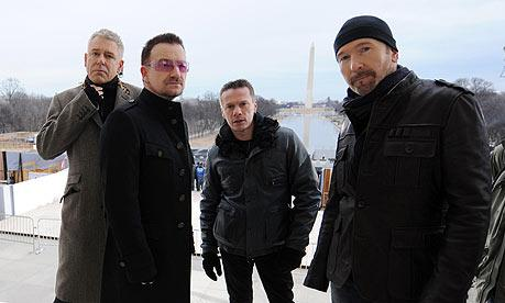 U2 album No Line on the Horizon was made available on Spotify a week before release (Picture guardian.co.uk)